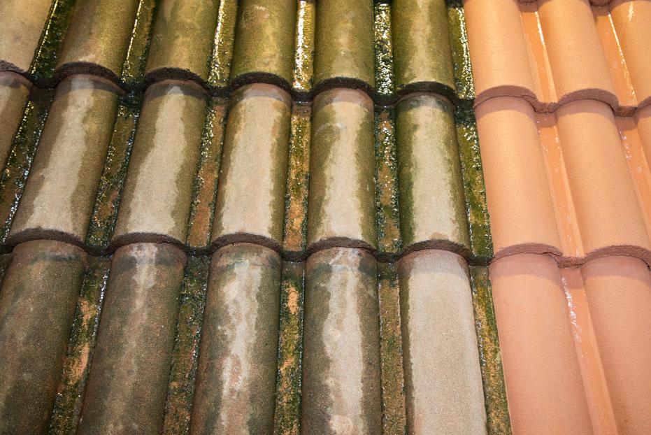 hydrofugation d'une toiture avant après